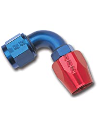 Edelbrock/Russell 610170 Red/Blue Anodized Aluminum -8AN 90-Degree Hose End