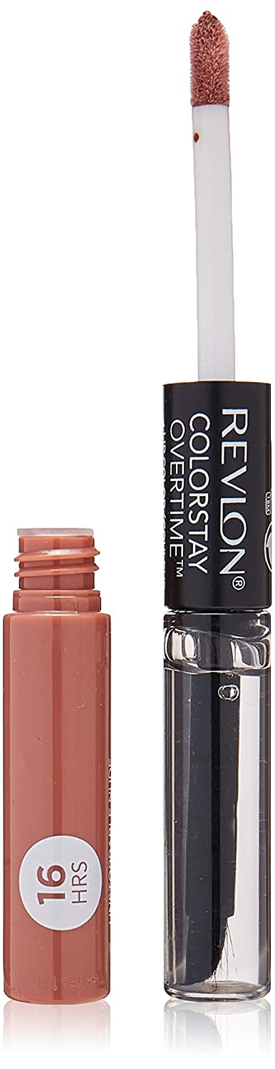 Revlon Colorstay overtime lipcolor, Longwearing Liquid Lipstick with clear lip Gloss, with Vitamin E, In Nude, 540 Unstoppable Nude, 0.8 Oz