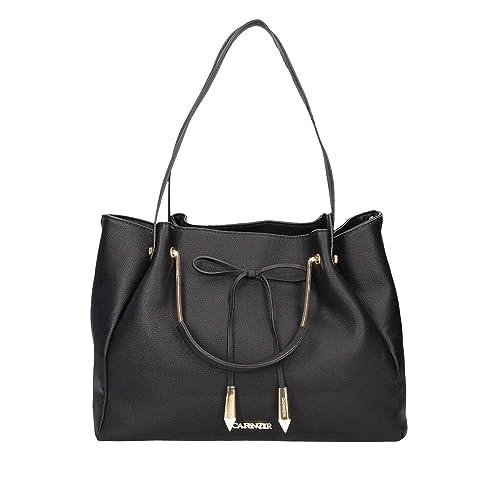 Borsa shopping donna CAFENOIR in pelle nera JBL001 010 NERO