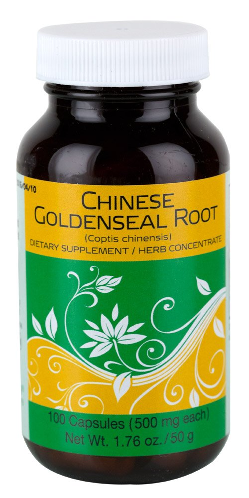 Chinese Goldenseal Root, 100 Capsules/Bottle