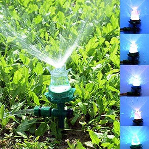 Jardín aspersor de riego El Agua de riego del césped LED Luminoso de riego automático del jardín al Aire Libre Tobera de Patio con jardín: Amazon.es: Jardín