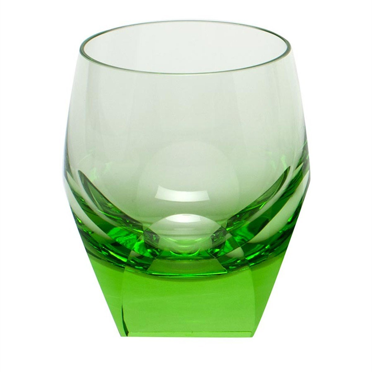 MOSER CRYSTAL BAR Double old fashioned 7.3 oz. ocean green