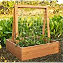 Coral Coast 30W x 30D x 36H in. Wood Garden Planter Trellis