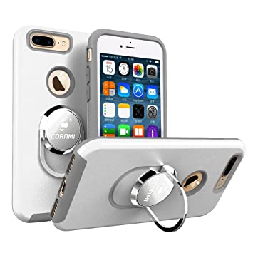 low priced 03793 77e7b Cornmi iPhone 6S Stand Case, 360 Dregees Rotation with Ring Grip Holder  Phone Cover for Iphone 6 6S Plus 5.5 inch (White, iPhone 6 6s 4.7