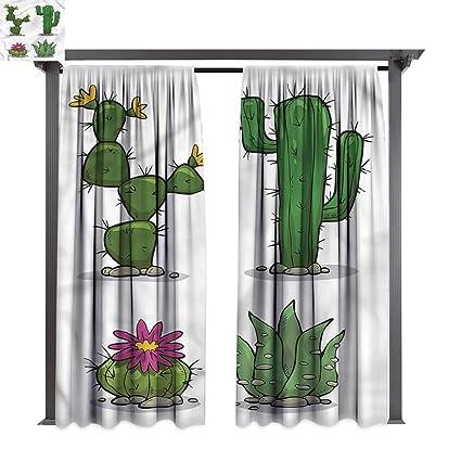 Amazon.com: cobeDecor Cortina al aire libre Cactus Mexicano ...