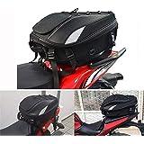 Motorcycle Seat Bag Tail Bag - Dual Use Motorcycle Backpack Waterproof Luggage Bags Motorbike Helmet Bag Storage Bags