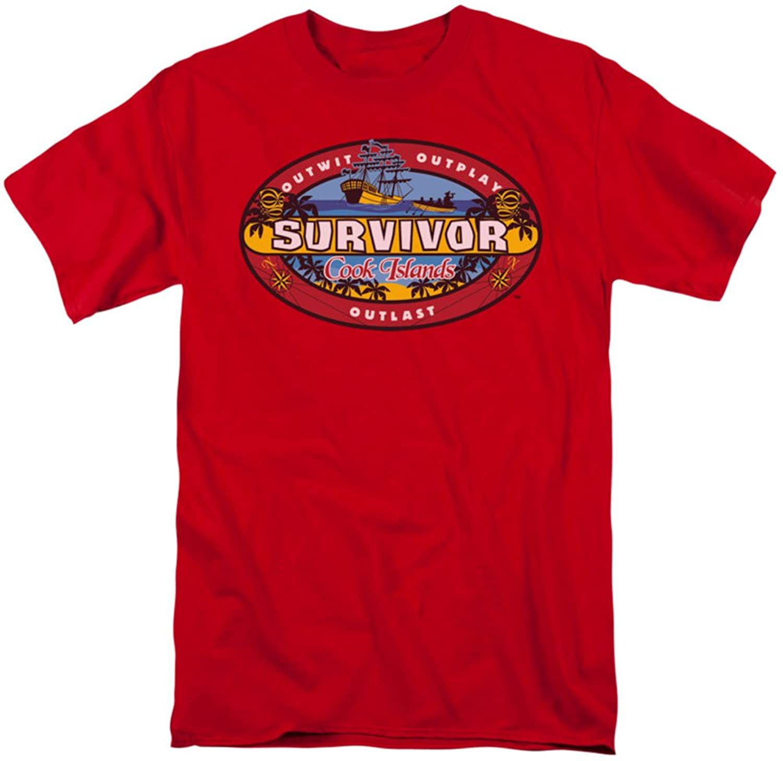 Survivor - Mens Cook Islands T-Shirt In Red