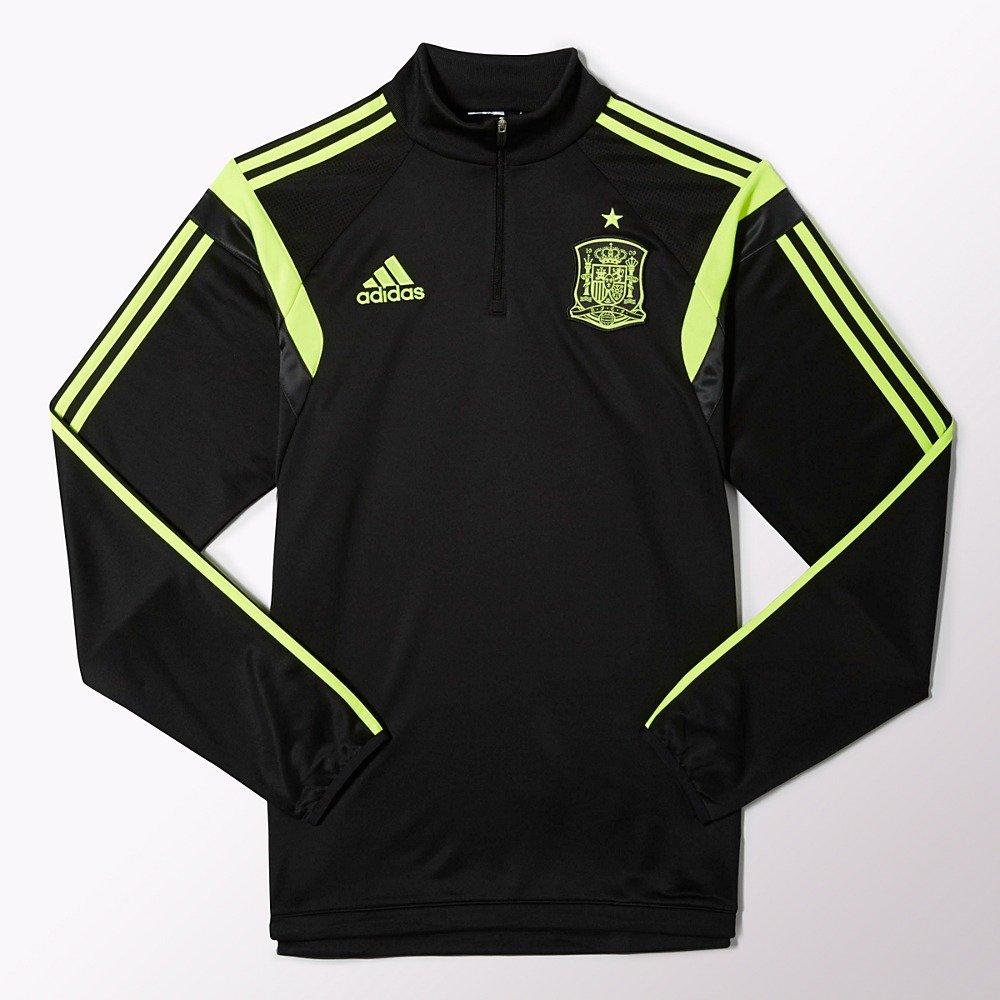 Adidasスペイントレーニングトップワールドカップ2014 B00GXKMHCA Medium|Black/Electric Black/Electric Medium