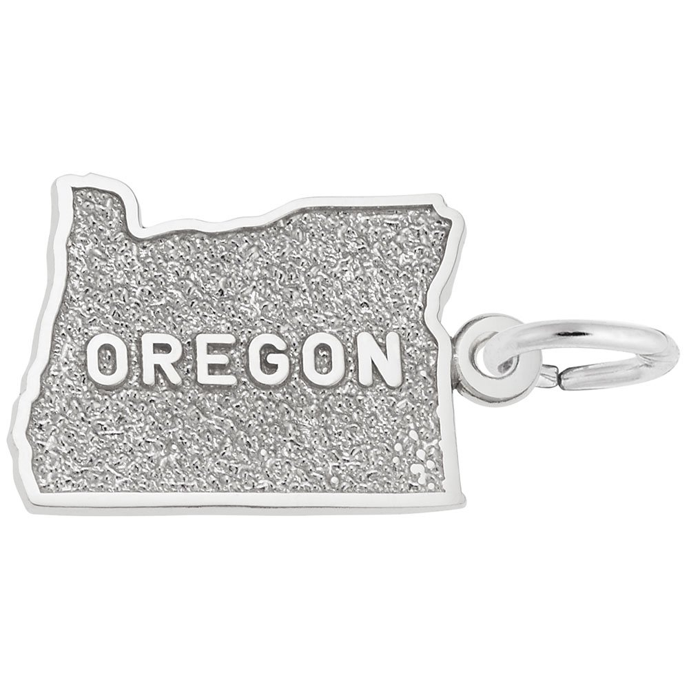 Oregon Charm In Sterling Silver, Charms for Bracelets and Necklaces