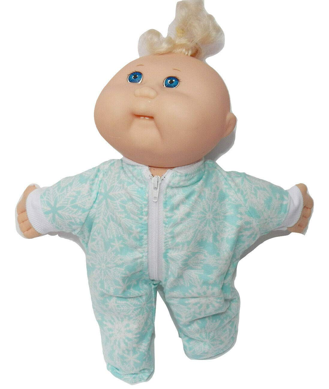 No Doll! 12 inch Boy Size Cabbage Patch Doll Clothes Green Snowflake Flannel Pajamas