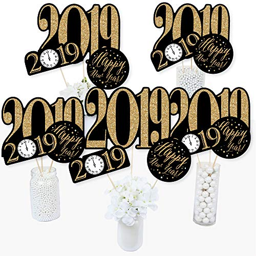 New Year's Eve - Gold - 2019 New Years Eve Party Centerpiece Sticks - Table Toppers - Set of 15]()