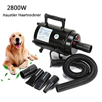 Paneltech 2800W Secador de Pelo para Mascotas Caninas Calentadora Perros Gatos Mascotas Secador de Cabello con Calentador Potencia Temperatura y Velocidad ...