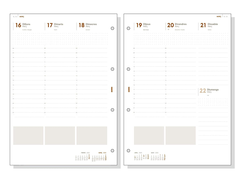 Finocam - Agenda Organizador 2020 semana vista vertical Open Troya Negro catalán, 4000-210x297 mm (DIN A4)