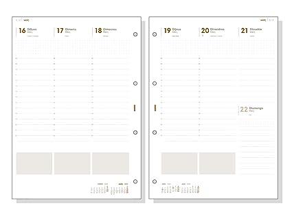 Finocam - Recambio Anual 2020 semana vista vertical Open R4099C catalán, 4000-210x297 mm (DIN A4)