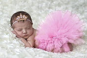 Baby Stirnband 3 x Set ROSA Haarband Kostüm Neugeborenen Foto Shooting Mädchen