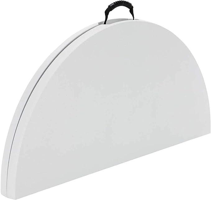 Lifetime 48 Round Fold-in-Half Table White Granite 2 Pack