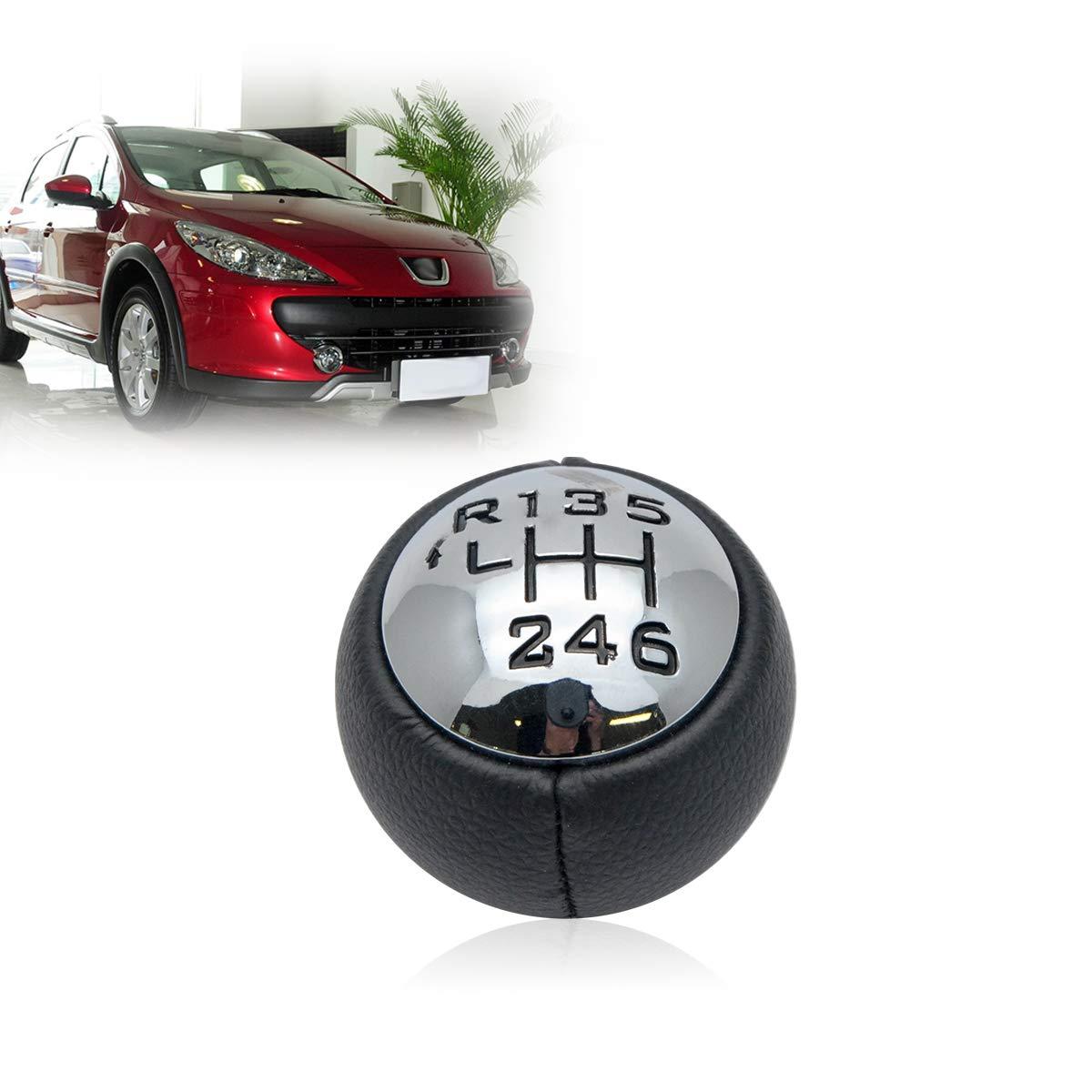 5 Gang Schaltknopf Schaltkanauf Kappe Emblem Abdeckung f/ür Ford Fiesta Focus