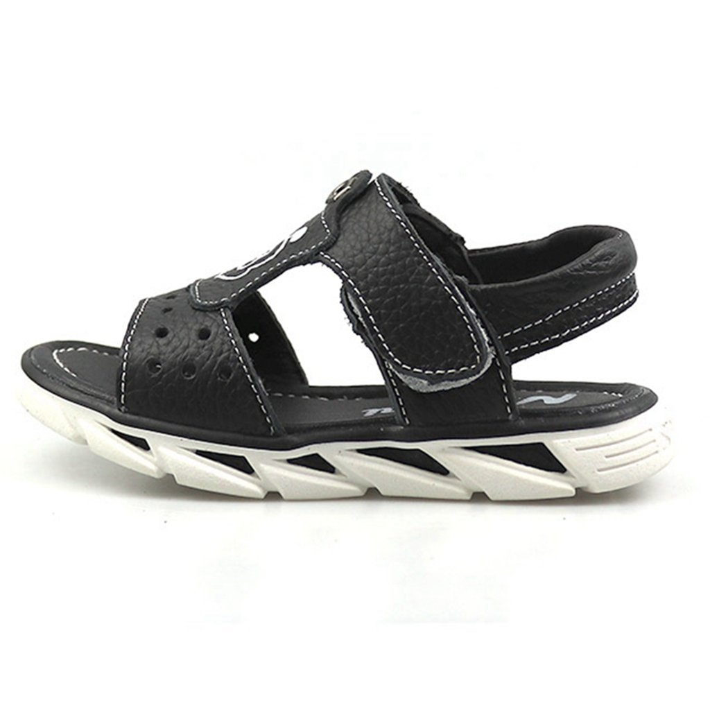 GIY Boys Summer Outdoor Athletic Leather Open-Toe Outdoor Spoort Beach Flat Sandals (Toddler/Little Kid/Big Kid)