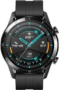 """Huawei Watch GT2 Sport - Smartwatch con Caja de 46 Mm (Hasta 2 Semanas de Batería, Pantalla Táctil Amoled de 1.39"""", GPS, 15 Modos Deportivos, Llamadas Bluetooth), Negro Mate"""