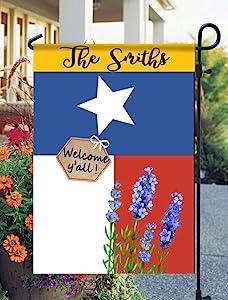 Tow Yus Dala Polyester Garden Flag for House Decor-Texas Bluebonnets Sequined Garden Flag (2 Sides Print)