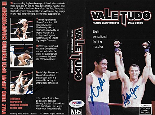 Rickson & Royler Gracie Dan Severn + Signed 1996 Vale Tudo Japan VHS UFC - PSA/DNA Certified - Autographed UFC Miscellaneous Products