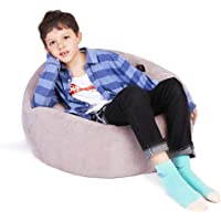 FLORICA Stuffed Animal Storage Bean Bag Kids Bean Bag Chair Plush Toy Organizer Stuffed Storage Bag Cotton Extra Large