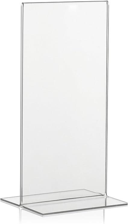 T-St/änder Din lang Hochformat//Tischaufsteller Flyer St/änder Prospektst/änder Aufsteller Werbung Acryl