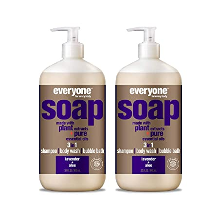 Everyone 3-In-1 Soap, Lavender and Aloe, 32 FL Oz, Pack of 2