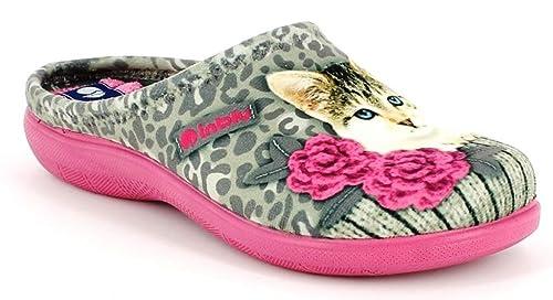 Inblu - Zapatillas de Estar por casa de Tela para Mujer Beige TóRTOLA 37 EU: Amazon.es: Zapatos y complementos
