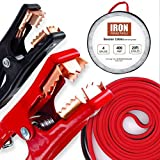Iron Forge Tools 20 Foot Jumper Cables with Carry Bag - 4 Gauge, 400 AMP Booster Cable Kit