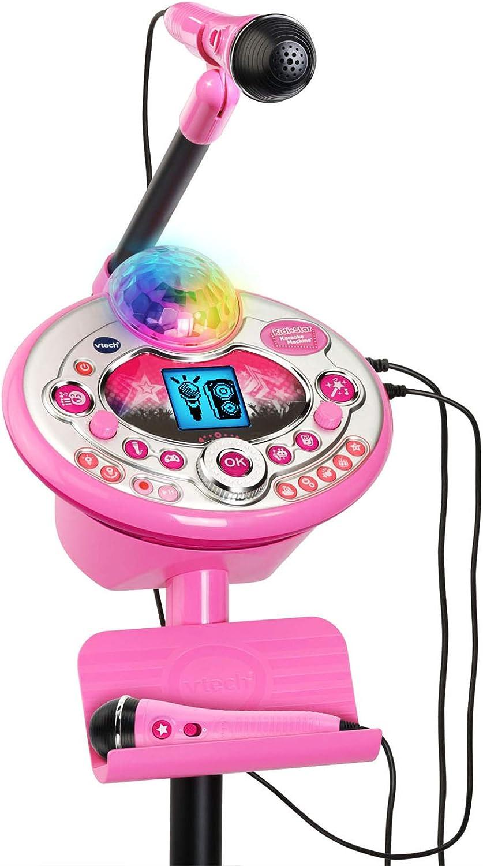 P Prettyia Kinder Karaoke Mikrofon mit St/änder Blau Einstellbar Karaoke Machine Toy Mikrofon f/ür Kinder Kleinkinder