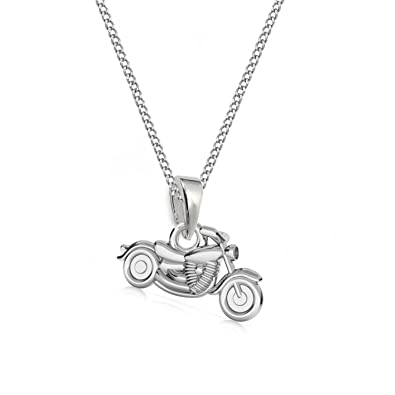 GH1a 3D Kleine Motorrad ANHÄNGER mit KETTE 925 Echt Silber Kinder Jungs  Geschenkidee Set (38 b0cad00183