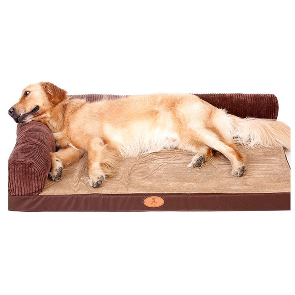 B 6045CM B 6045CM X-CWW Pet Mat, Large Dog Kennel Cat House Removable And Washable Pet Nest Wear-resistant Bite Pet Bed (color   B, Size   60  45CM)