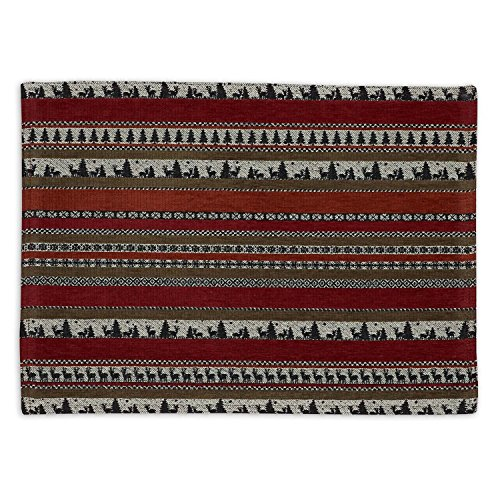 Design Imports A Walk in the Woods Table Linens, 13-Inch by 18-Inch Placemat, Wilderness Stripe Tapestry