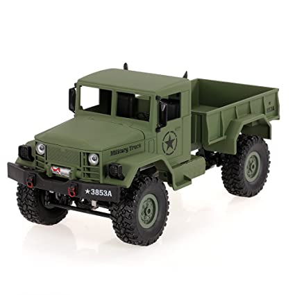 Goolsky Heng Long 3853A 1/16 2 4G 4WD Off-Road RC Military Truck Rock  Crawler Army Car (Green)
