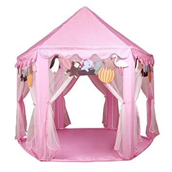 Kids Pink Princess Castle Playhouse-LEKESI Play Tent For Girls ...