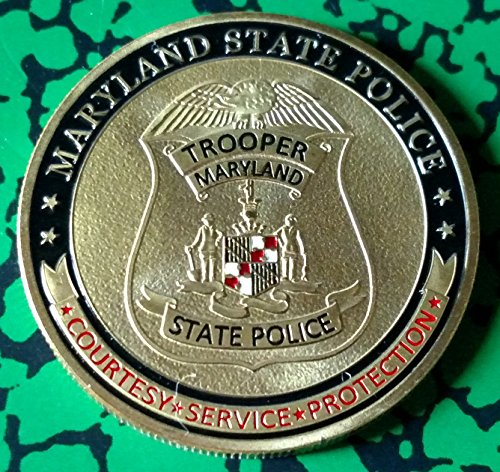 - Maryland State Patrol Trooper Police Challenge Art Coin