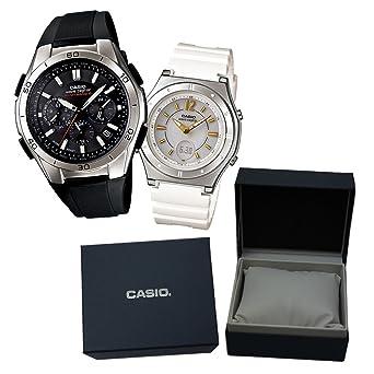 51bb093e69 【カシオソーラー電波時計ペア箱入りセット】 CASIO(カシオ) 腕時計 WAVECEPTOR ウェーブ