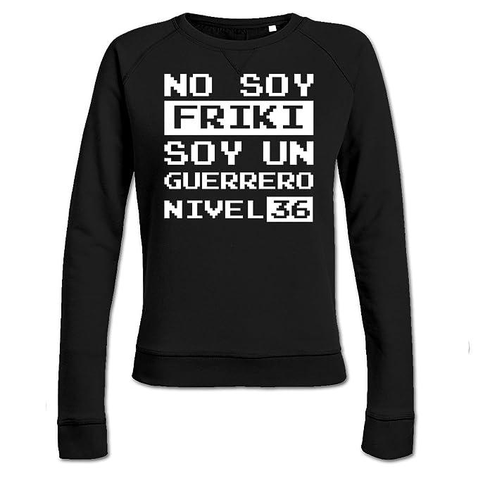 Sudadera de mujer No soy friki soy un guerrero nivel 36 by Shirtcity: Amazon.es: Ropa y accesorios