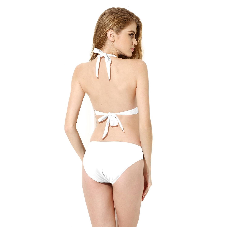 Colloyes Femmes Bikini Lace Maillot De Bain Deux Piece Trikini Triangle  Tankini Style Multi-Motifs bd737d556b3c