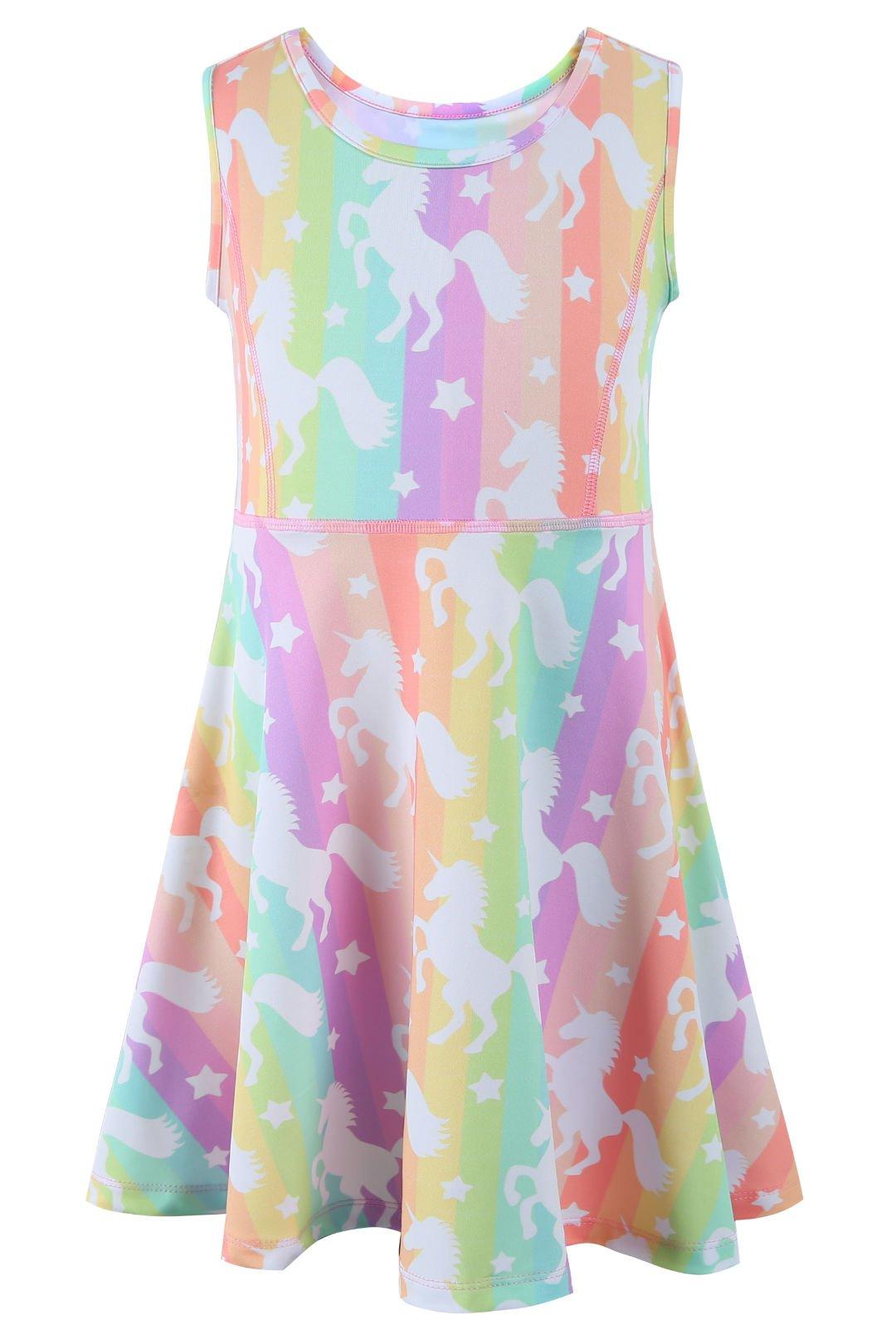 Liliane Girls Skater Dress Girls Dresses Short Sleeve Girls Dresses 7-16 (A005,8-9Y)
