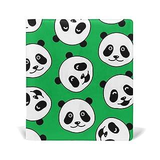ALAZA Cute Panda Viso Doodle pelle riutilizzabile Copertina 9 x 11 pollici per le medie e Jumbo Dimensioni Rilegato testi scolastici Libri di testo