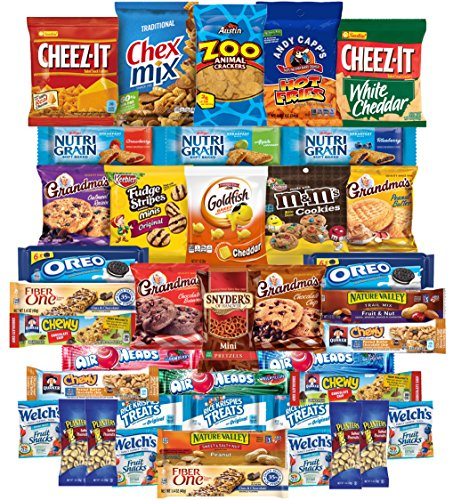 - Chips Cookies Candies & Snacks Care Package (40 Count) by Variety Fun