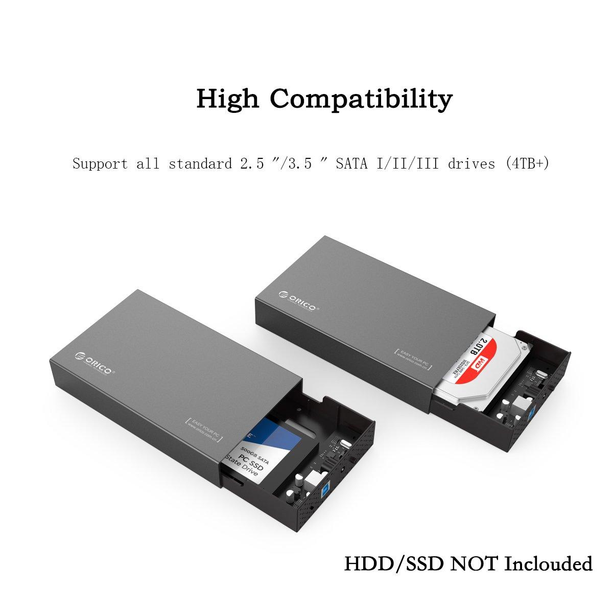 Orico Caja de aluminio para disco duro USB 3.0 con UASP para HDD ...