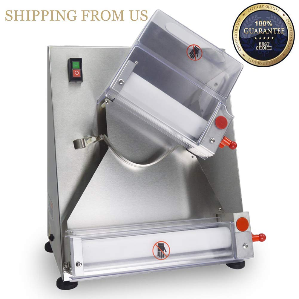 SHANGPEIXUAN Automatic Pizza Dough Roller Sheeter Machine,Making 3''-12''Pizza Dough,Pizza Making Machine,Food Preparation Equipment …