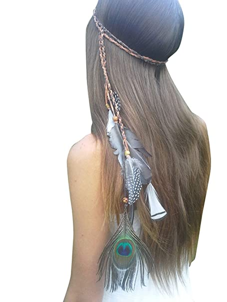 En blanco K boda fiesta Niñas pluma pelo banda vestido, cinturón, collar para las