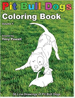 Pit Bull Dog Coloring Book