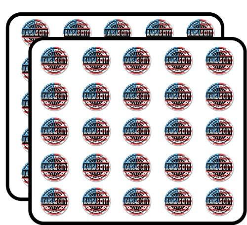 Kansas City Missouri USA Sticker for Scrapbooking, Calendars,