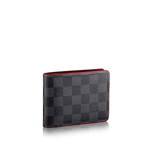 Damero Grafito Lienzo Louis VUITTON Burdeos Cartera de múltiples n63260: Amazon.es: Zapatos y complementos