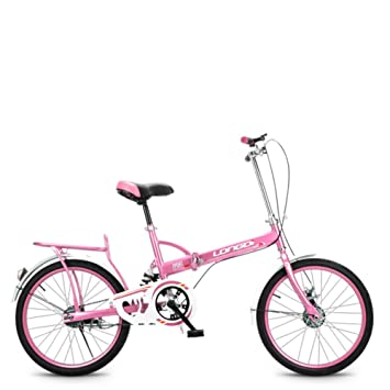Portátil Carbike Permanente Bicicleta plegable Bicicleta Estudiantes adultos Ultra ligh Portátiles mujeres 20 pulgadas Ciudad del